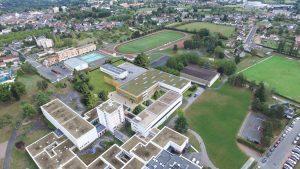 Vue aérienne du lycée